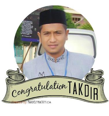 Takdir, Putra Aceh Pemenang Pertama Lomba MTQ Internasional di Turki 2015