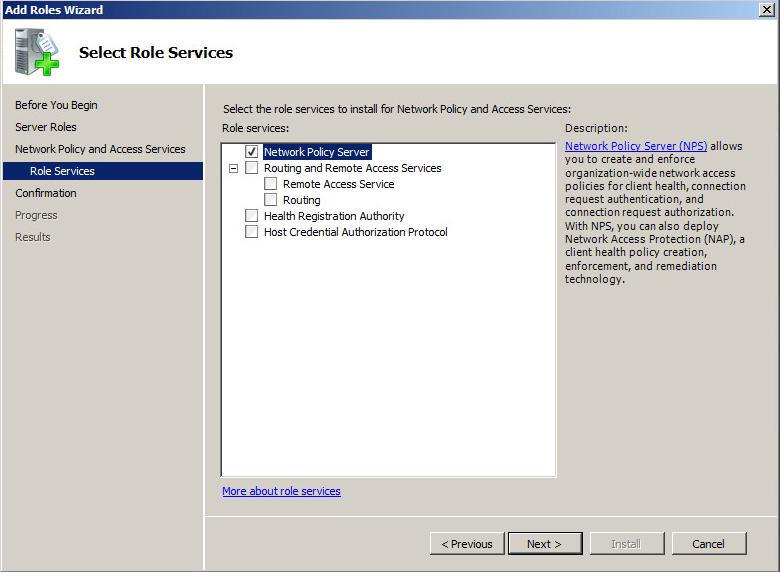 How to configure a Windows RADIUS server for 802 1X Wireless