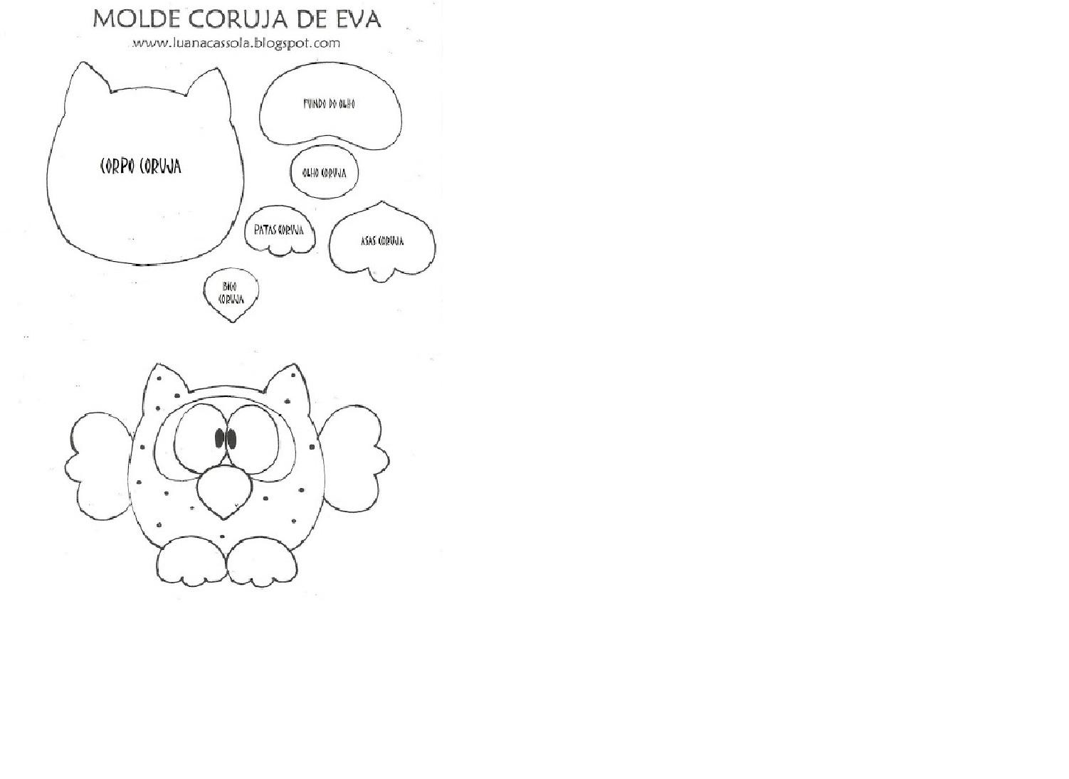 Muitas vezes E.V.A. Moldes e Idéias: CHAVEIRO CORUJA EM E.V.A. DJ85