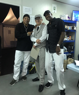 David Rodigan, Mafia and Fluxy, reggae artists, radio dj,