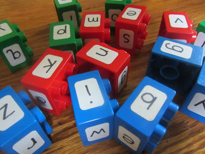 DIY Phonics Manipulatives with Duplo® Blocks-The Unlikely Homeschool
