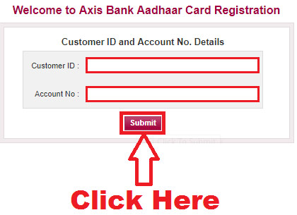 how to add aadhaar number to axis bank account online