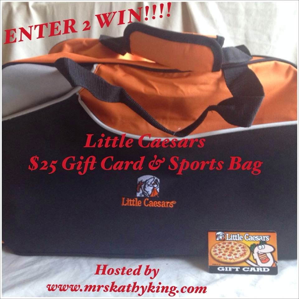 Enter the Little Caesars Gift Card and Sports Bag Giveaway. Ends 8/18.