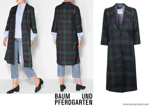 Crown Princess Mary wore Baum und Pferdgarten Bian woven jacket with pattern