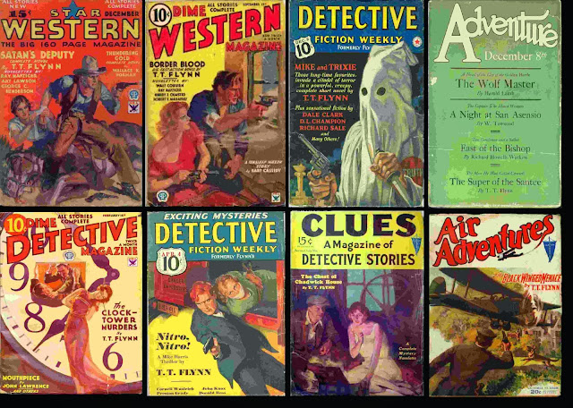 Pulp Magazine Covers with stories from T.T. Flynn