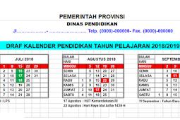 Hasil Draft Kalender Pendidikan 2018/2019