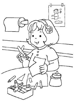 gradinita, planse de desenat