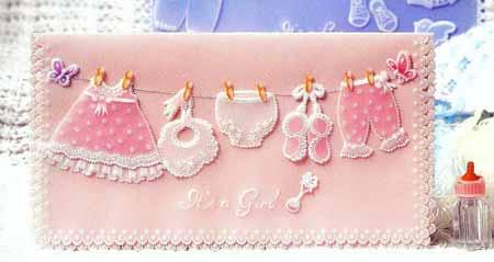 Фон открытки с рождением дочки