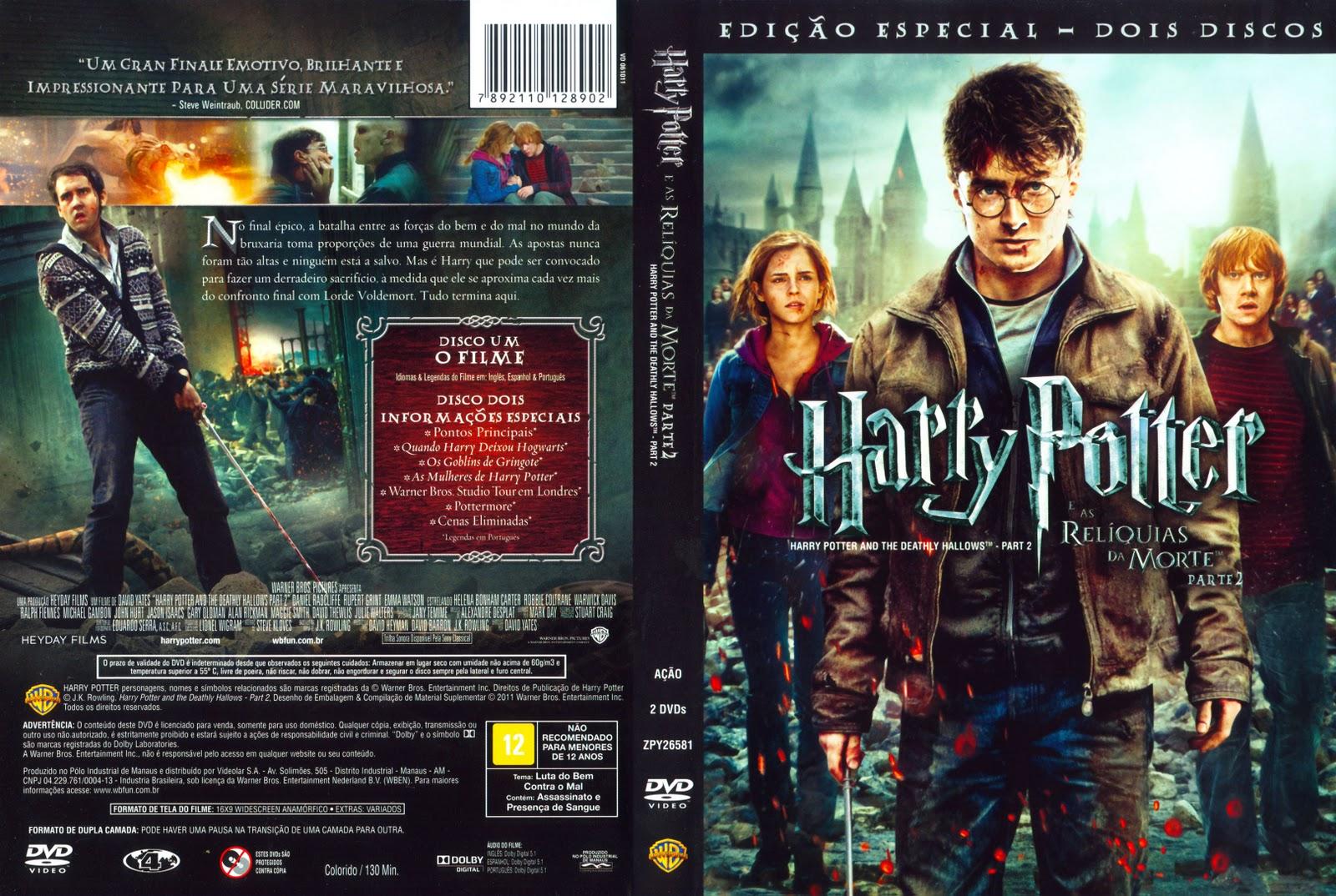 Muerte En La Montana Parte 5: Capas Dj Kal: Capa DVD Harry Potter E As Relíquias Da