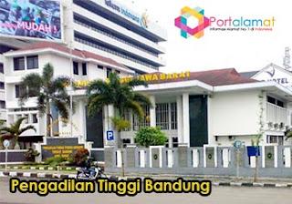 Alamat Pengadilan Tinggi Bandung