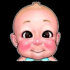 Stiker Whatsapp Muka Lucu Bayi Format Png Gratis