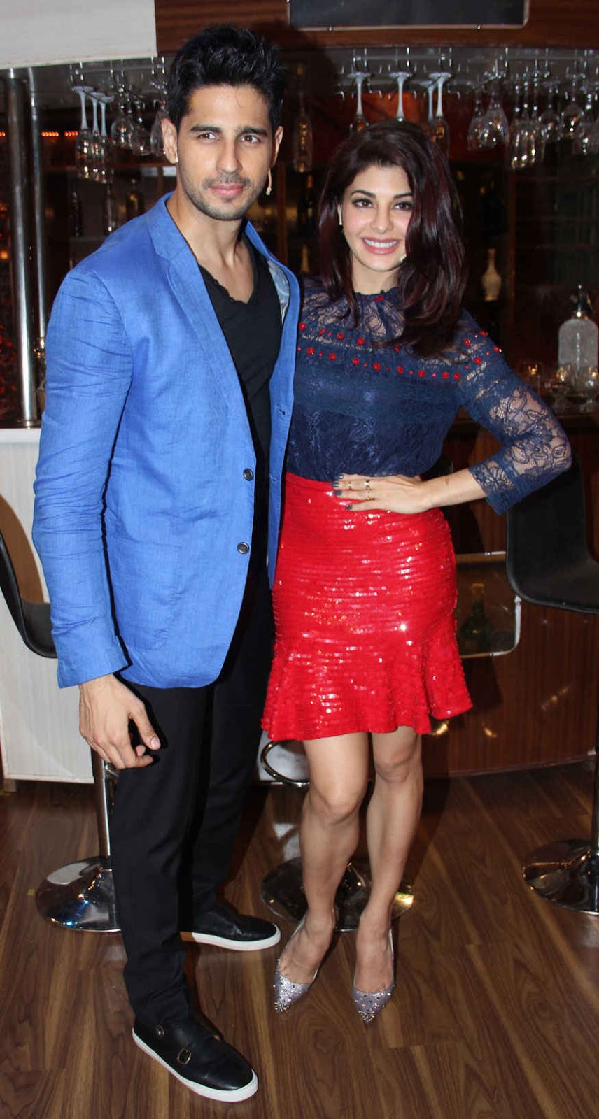 Sidharth Malhotra and Jacqueline Fernandez on The Sets of 'The Drama Company'