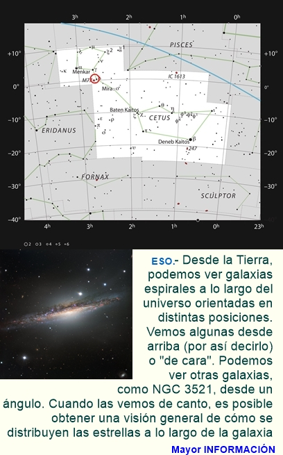 Una galaxia de canto
