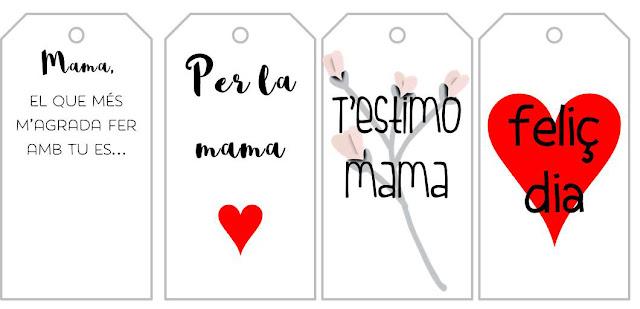Etiquetes del dia de la mare