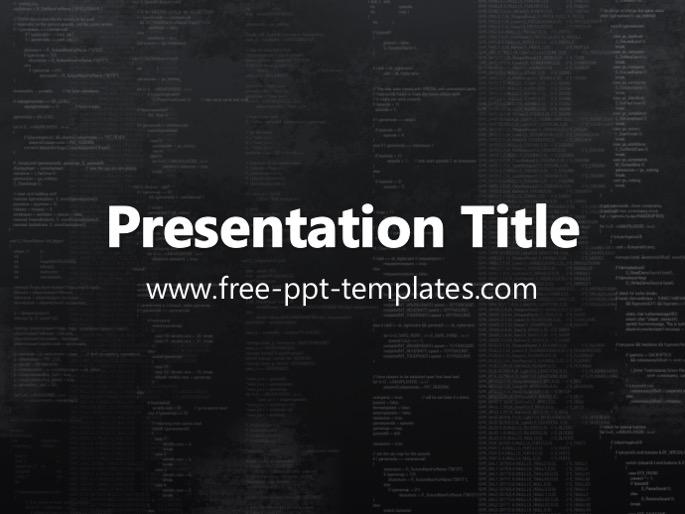 programming ppt template, Modern powerpoint