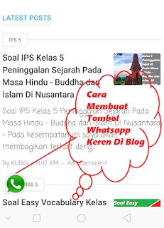 Cara Membuat Tombol Whatsapp Keren Di Blog