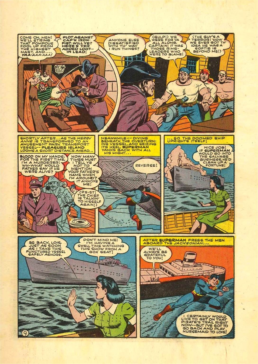 Read online Action Comics (1938) comic -  Issue #54 - 10