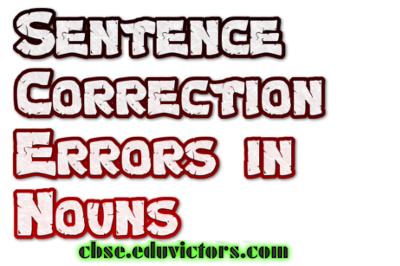 Sentence Correction - Noun Errors(#englishgrammar)(#eduvictors)