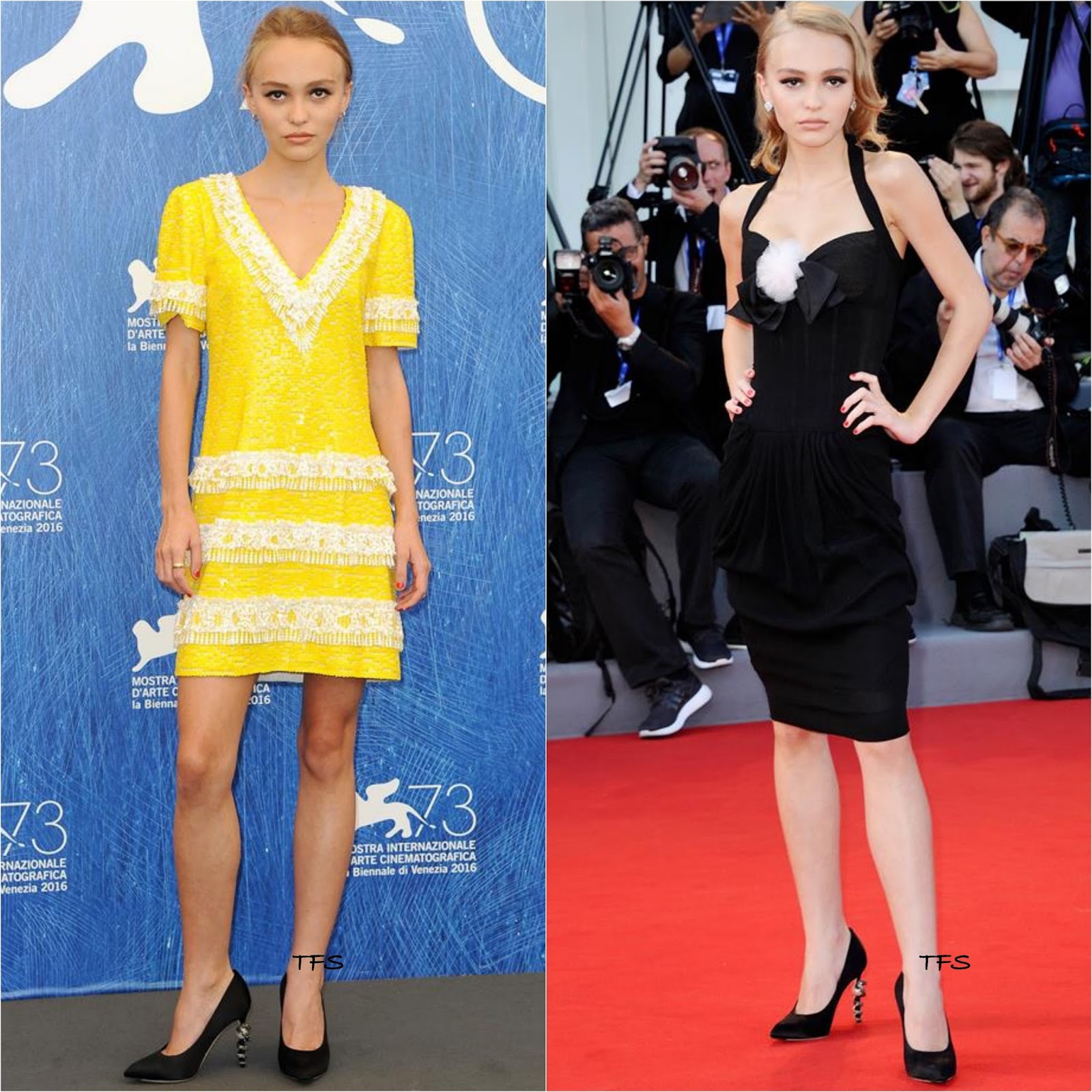 2cec1adc932b Lily-Rose Depp in Chanel at the  Planetarium  73rd Venice Film Festival  Photocall   Premiere