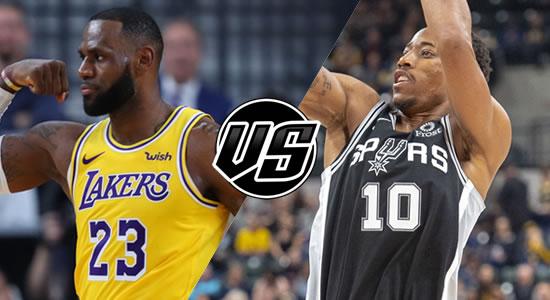 Live Streaming List: LA Lakers vs San Antonio Spurs 2018-2019 NBA Season