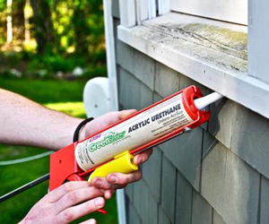 Caulking Windows is an important step to air sealing.
