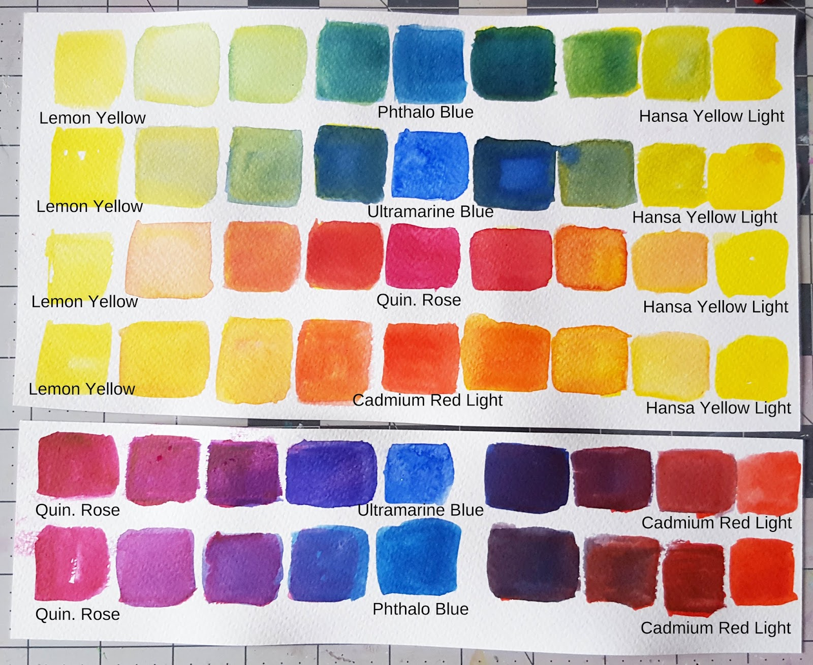 Auroras Land Watercolor 101 Series 1 Mixing Colors Using Primary