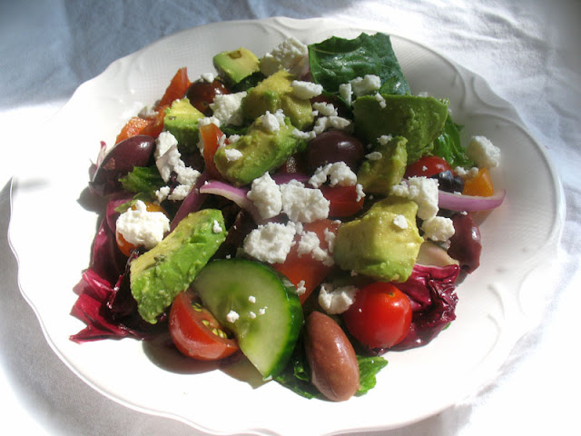 avocado greek salad