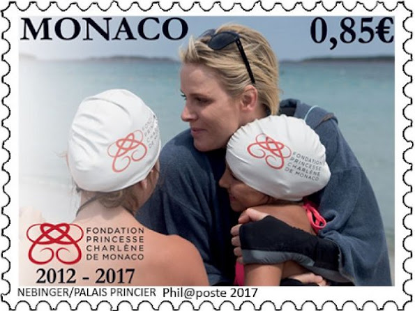 The OETP released two new stamps that bearing the photo of the Princess Charlene to celebrate of the 5th anniversary of Princess Charlene Foundation