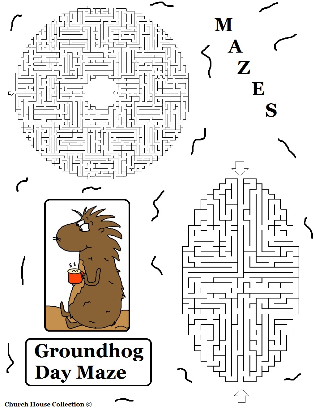Church House Collection Blog Groundhog Day Mazes For -3709