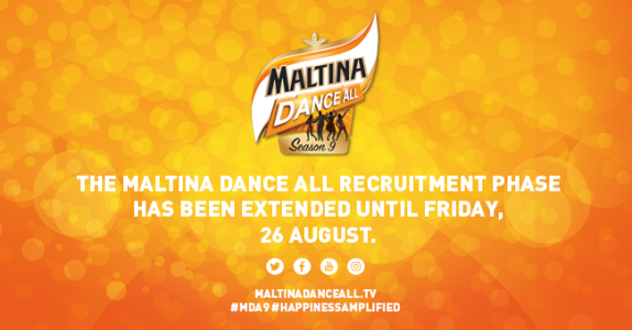 Great news! Entries for Maltina Dance All Season 9 have been extended till August 26