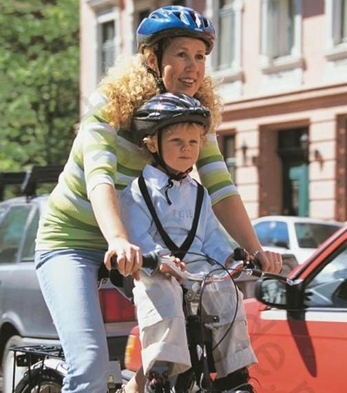 детское велокресло переднее