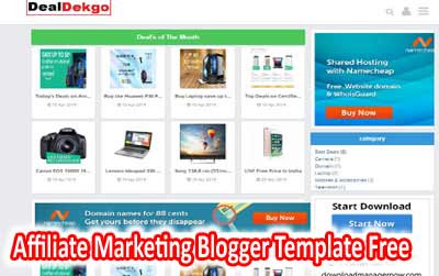 Amazon Affiliate Marketing Blogger Template Free