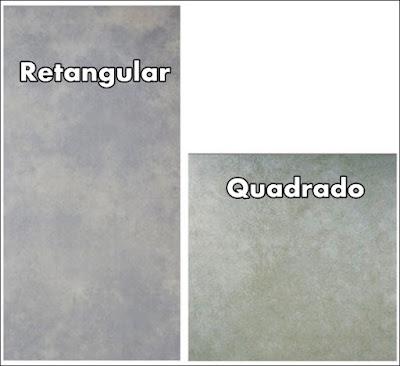 piso porcelanato retangular e quadrado