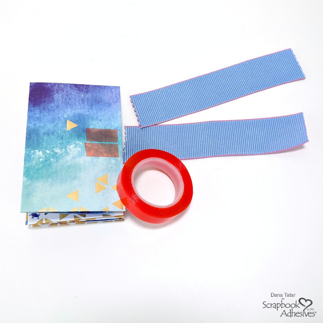 How to Attach a Ribbon Closure to a DIY Pocket Mini Book