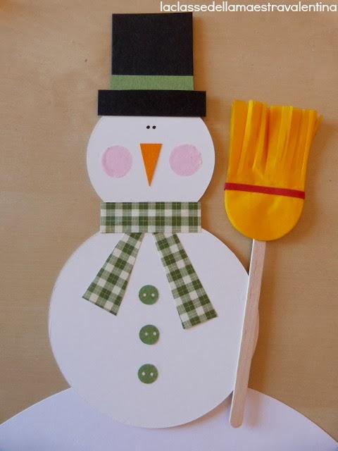 La classe della maestra valentina tanti pupazzi di neve for Lavoretti di natale maestra mary
