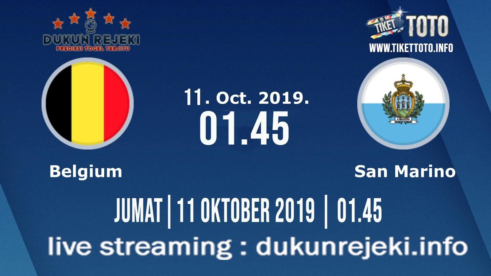 Prediksi EURO Qualification Belgium Vs San Marino 11 Oktober 2019