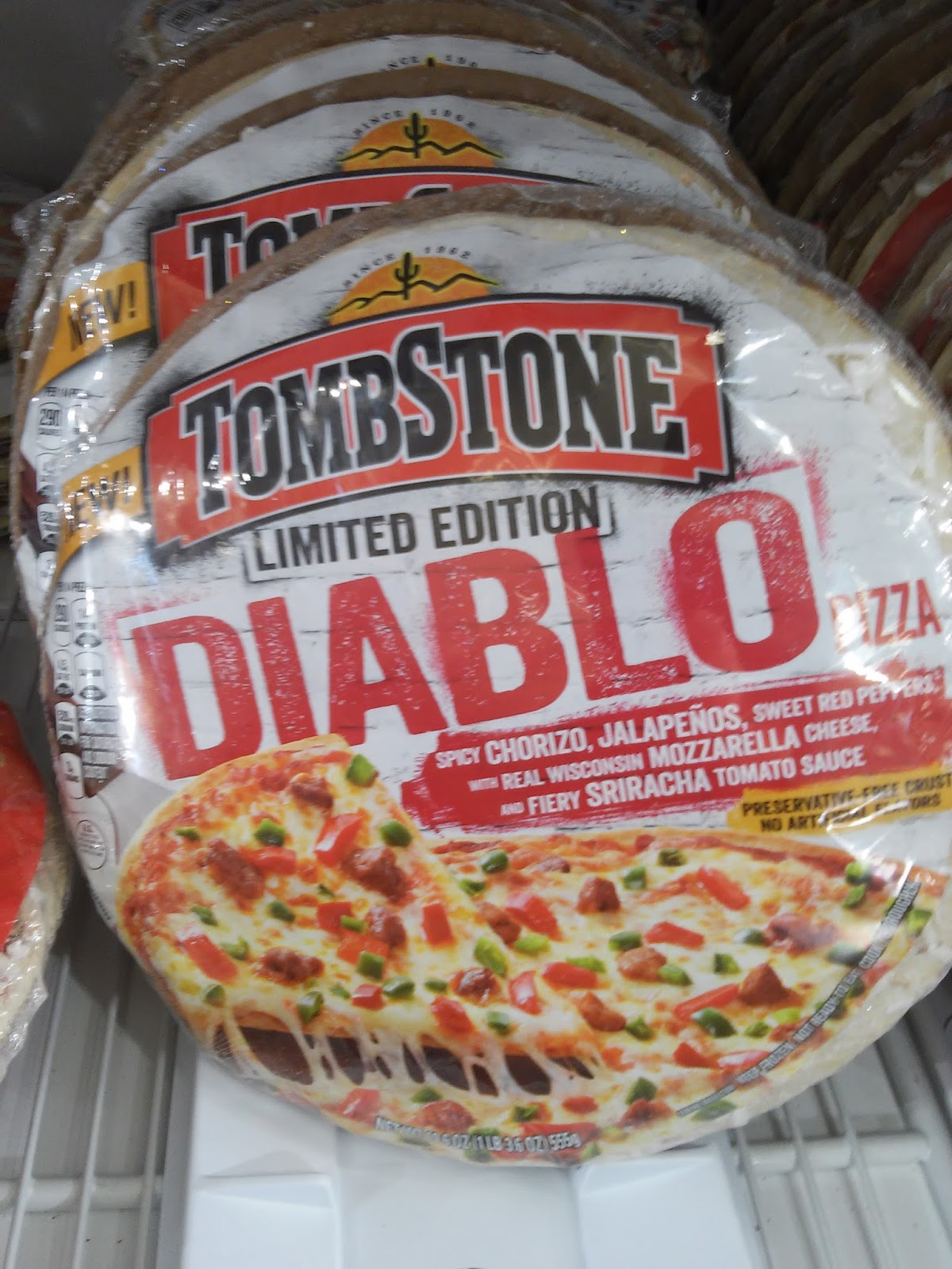 TOMBSTONE ® Original Pizza. All of your favorite toppings, on a thin crispy crust, with our signature zesty sauce and % real cheese - the frozen pizza pioneer since !