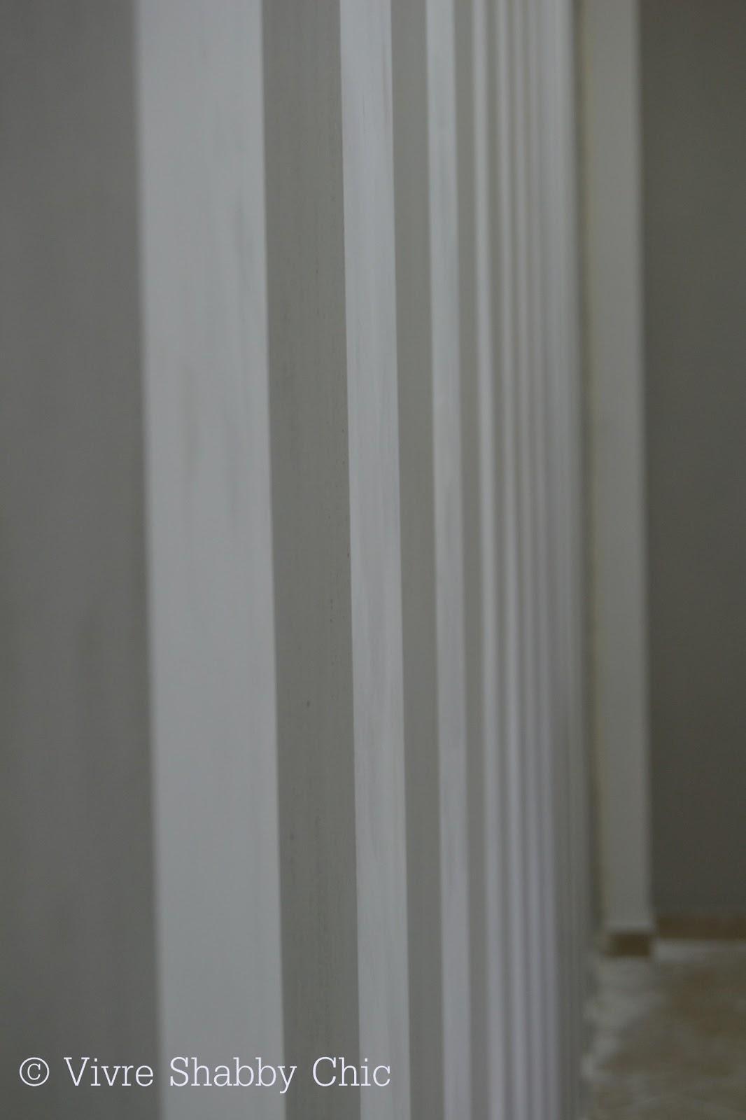 Pareti A Righe Shabby Chic vivre shabby chic: un muro a strisce.