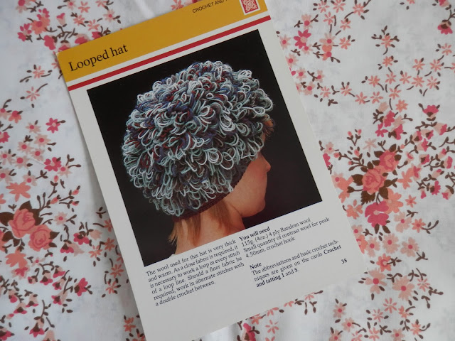 Retro looped crochet hat.  secondhandsusie.blogspot.co.uk