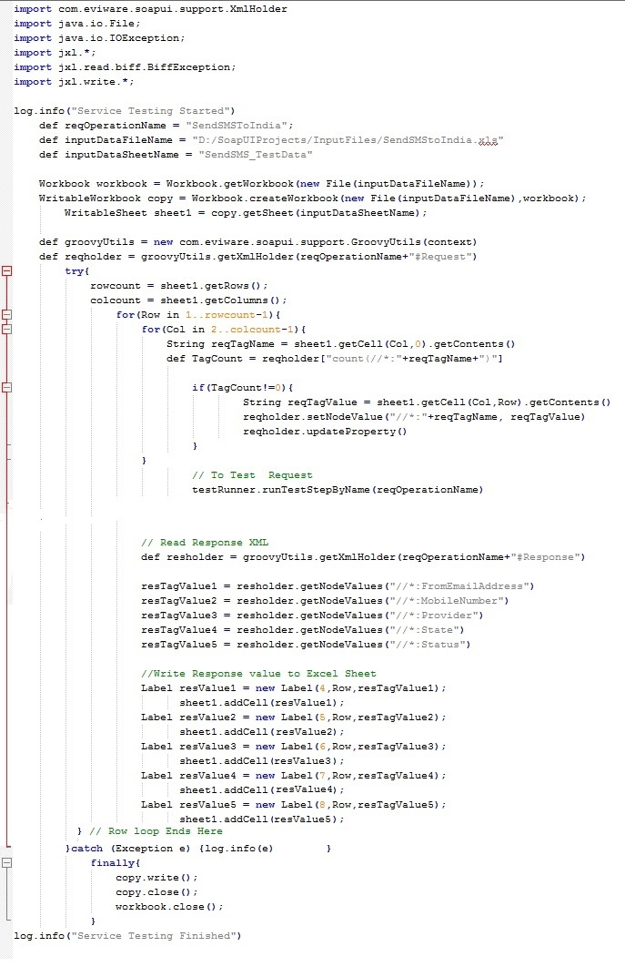 Working With SOAPUI and Groovy Scripts: 2014
