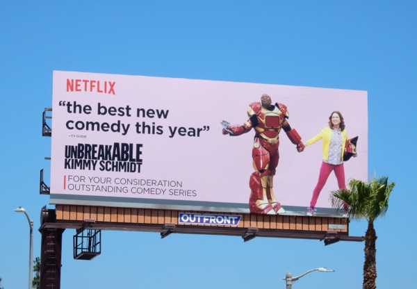 Unbreakable Kimmy Schmidt Netflix 2015 Emmy billboard
