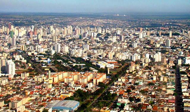vista aérea de Uberlândia