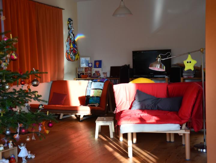 Christbaum im Wohnzimmer