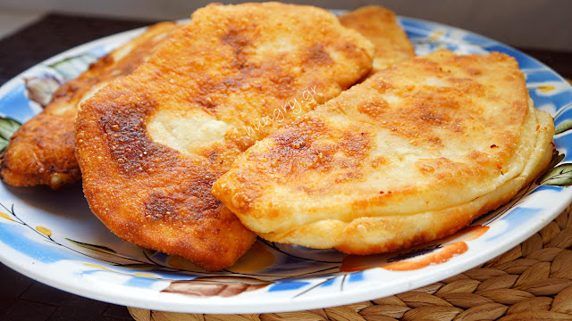 Fried Greek Cheese Pies-Tiganopsoma