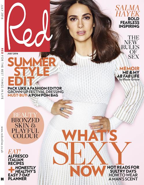 Actress, Model, @Salma Hayek Max Abadian Photoshoot for red Magazine, July 2016
