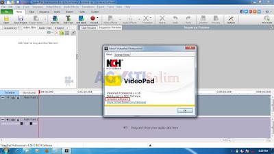 Tutorial Install Aplikasi VideoPad Full Version + Crack dengan mudah lengkap dengan gambar
