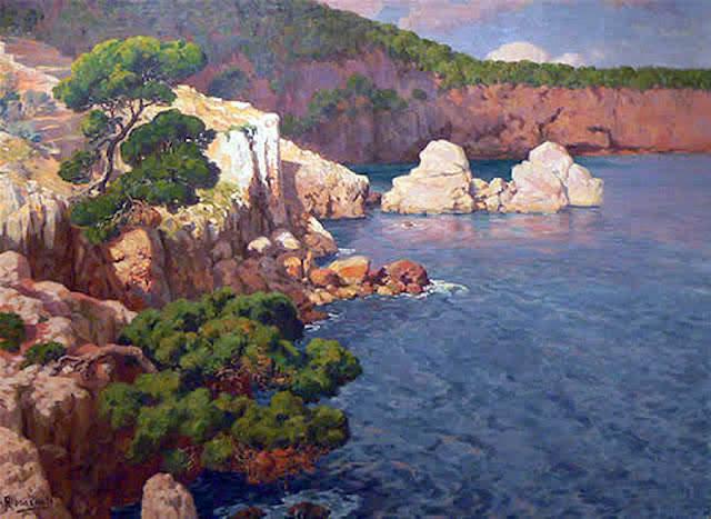 Antonio Ribas Prats, Costas de Deiá, Mallorca en Pintura, Mallorca pintada, Paisajes de Mallorca