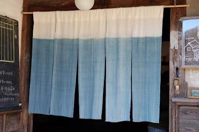 松本市の古民家カフェ KAJIYA(カジヤ)暖簾
