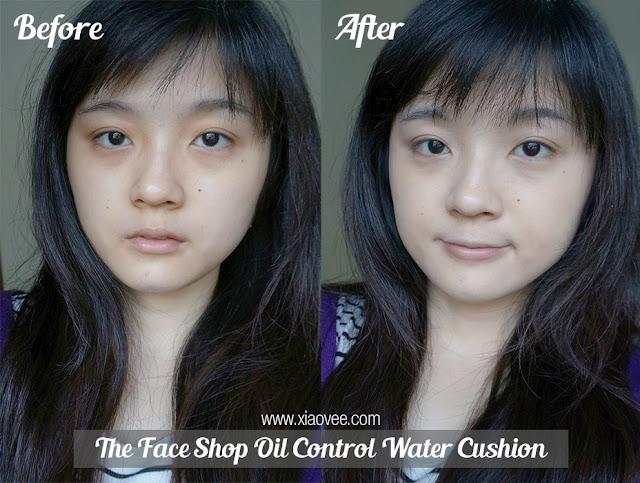 The Face Shop Oil Control Water Cushion review, face shop review, face shop cushion review, face shop foundation review, face shop before after