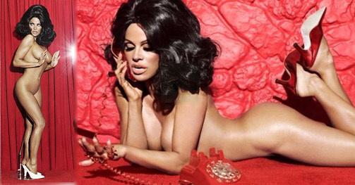 Γυμνή, μελαχρινή, Pamela Anderson.